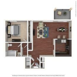 1BR/1BA C 1 Bed 1 Bath Floor Plan at Crooked Oak at Loma Verde Preserve, Novato, 94949