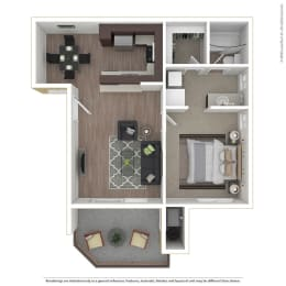1BR/1BA 1 Bed 1 Bath Floor Plan at 1750 On First, Simi Valley, CA