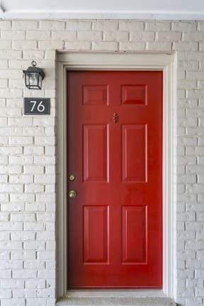 The Slate Red Front Door