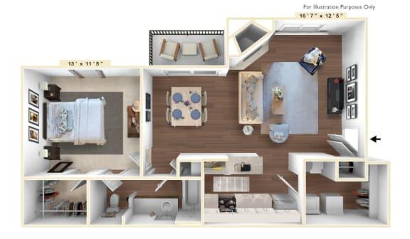 Floor Plan  The-Spirit_Grand Floor Plan at Sunscape Apartments, Roanoke, Virginia