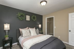 The Slate Model Bedroom and Closet