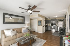 The Slate Model Living and Kitchen