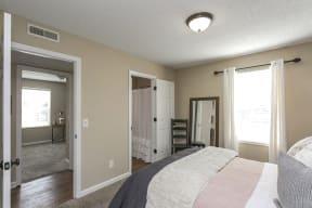 The Slate Model Master Bedroom and Bathroom