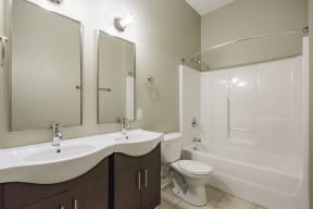 Gale Lofts Double Vanity Bathroom