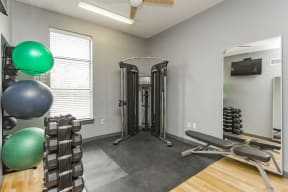Gale Lofts Fitness Center with Weights and Exercise Machines