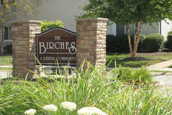 Signage at The Birches Apartments, Joliet, 60435