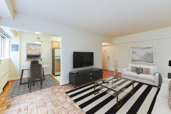 Sherry-Hall-Apartments-Living-and-Dining-Room-Furnished
