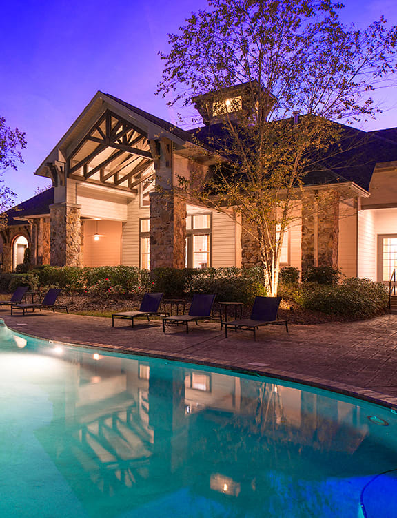 Sparkling Pool and Clubhouse at Reserve at North River, Alabama