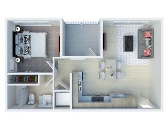 1x1 floor plans available at Ageno Apartments in Livermore, CA