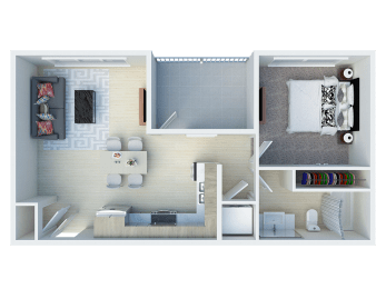 1x1 floor plans available at Ageno Apartments   Livermore, CA