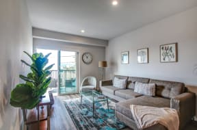furnished living room | nVe at Fairfax apartments for rent