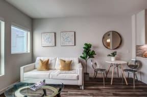 Spacious Living Rooms at nVe at Fairfax Apartments | Los Angeles, CA 90036