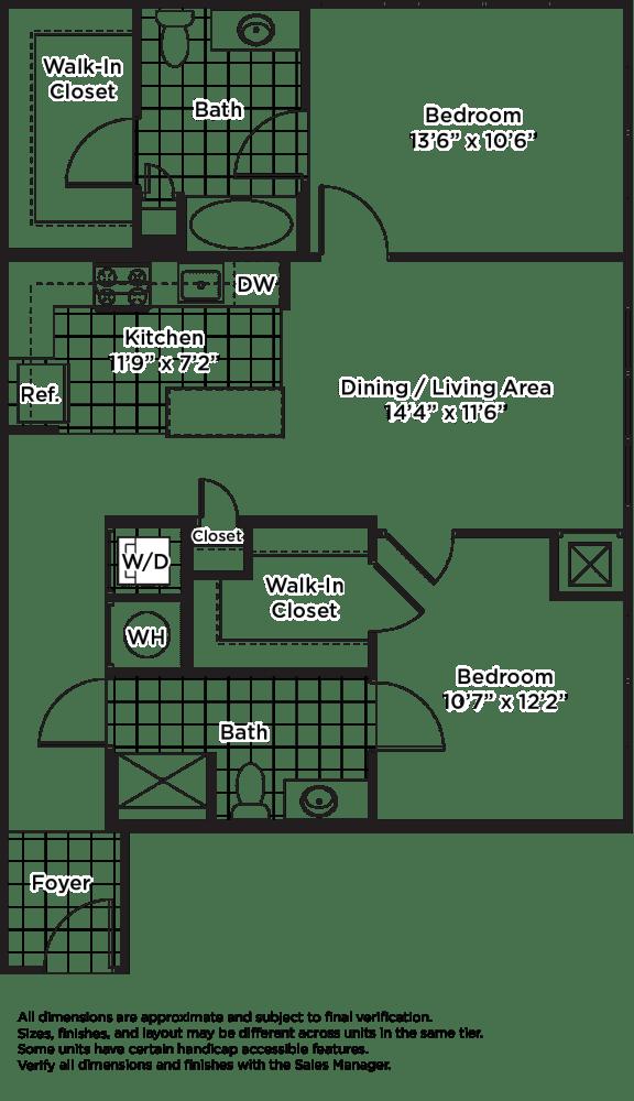 Floor Plan  B11m (Income Restricted, ADU Program)