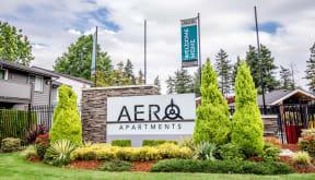 Tacoma Apartments - Aero Apartments - Sign