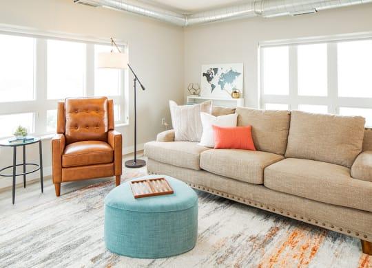 Living Room Model at Elevate at Southwest Station
