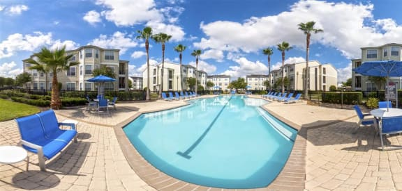 Sparkling Swimming Pool and Lounge at Towne West Apartments, Houston, TX, 77082