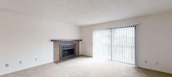 Wood burning brick fireplaces at Candlewyck Apartments, Kalamazoo, MI
