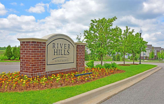 Property Entrance Sign at River Hills Apartments, Fond du Lac