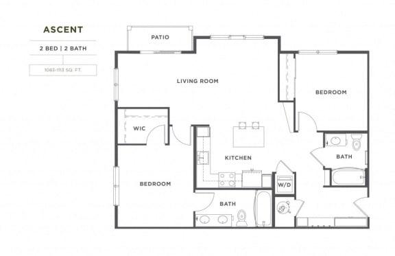 Floor Plan  Ascent FloorPlan at Broadstone Montane, Parker, 80138
