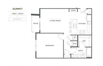 Summit FloorPlan at Broadstone Montane, Parker, 80138