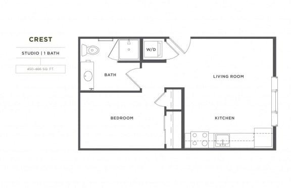 Floor Plan  Crest FloorPlan at Broadstone Montane, Parker, CO, 80138