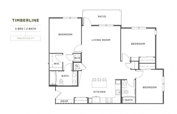 Floor Plan  Timberline FloorPlan at Broadstone Montane, Parker