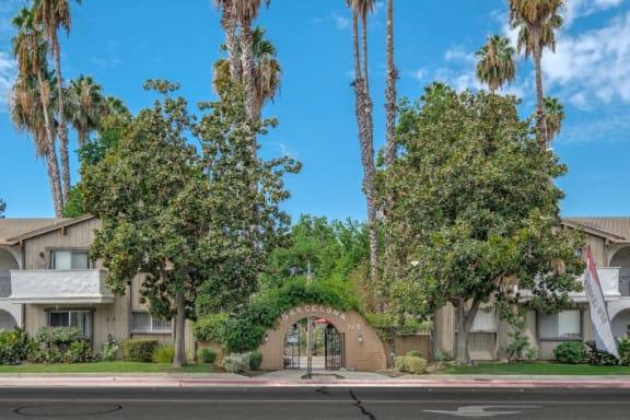 Property Entrance at Barcelona Apartments, Visalia, California