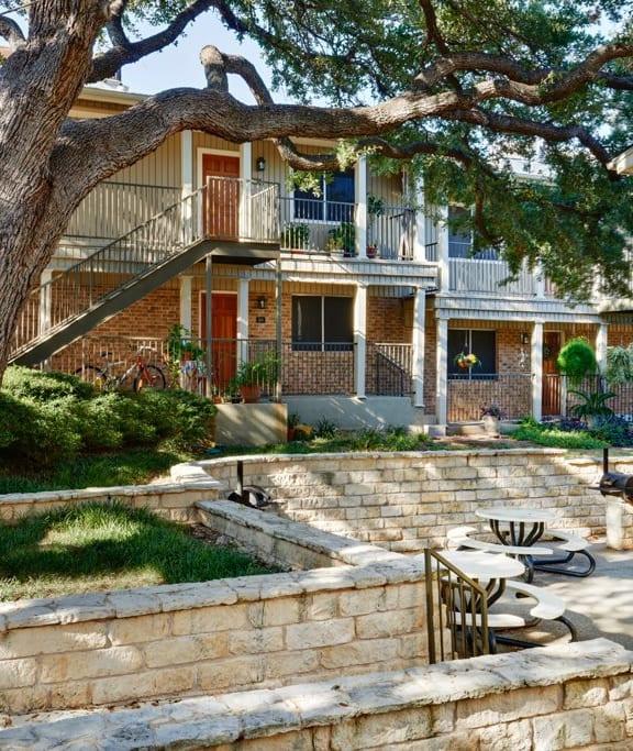 Cozy BBQ Pit, Juniper Springs Apartments, Austin, TX, 78731