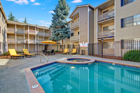 Bayview Apartment Homes Pool and Spa Area