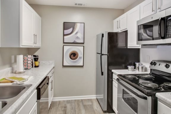 Fully Equipped Kitchen With Modern Appliances at Lakeview at Cottage Hill, Alabama