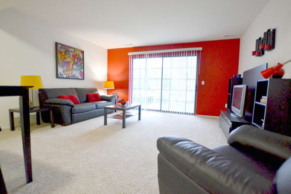 Living Room at The Springs Apartment Homes, Novi, MI 48377