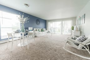 Renton Apartments - The Aviator Apartments - Living Room and Deck
