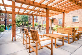 Seattle Apartments - Cadence Apartments - Common Patio and Gas Grills