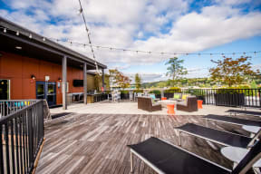 Kent Apartments - The Platform Apartments - Community Rooftop Deck and Gas Grill 1