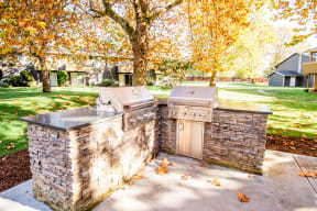 Lakewood Apartments - Bellmary Park Apartments - Common Patio Gas Grills