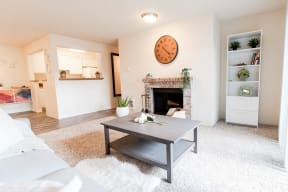 Tacoma Apartments - Monterra Apartments - Living Room, Dining Room, and Kitchen