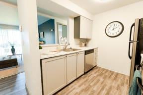 Tacoma Apartments - Aero Apartments - Kitchen and Living Room