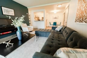 Tacoma Apartments - Aero Apartments - Living Room, Kitchen, and Dining Room