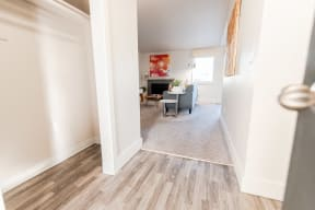 Tacoma Apartments - Northpoint Apartments - Entryway, Closet, and Living Room