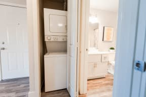 Tacoma Apartments - Northpoint Apartments - Laundry, Entryway, and Bathroom