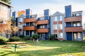 Tacoma Apartments - Northpoint Apartments - Rear Exteriors and Common Barbecue
