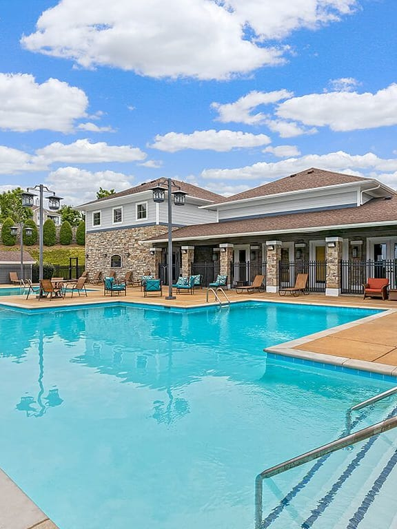 Pool View at Hickory Point Apartments, Nashville, TN, 37211
