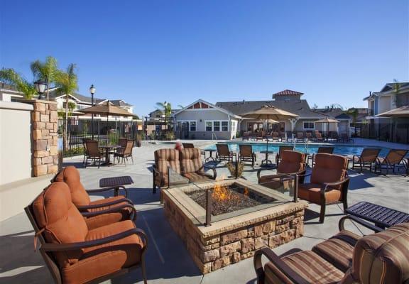 Poolside Cabana With BBQ at Siena Apartments in Santa Maria, CA