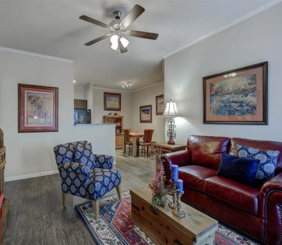 Decorated Living Room at Ranch 123, Seguin, TX