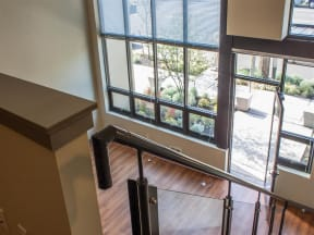 Seattle Apartments - Canvas Apartments - Loft Layout Entryway and Stairs