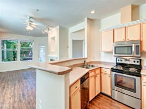 Built-in microwaves at Willina Ranch, Bothell