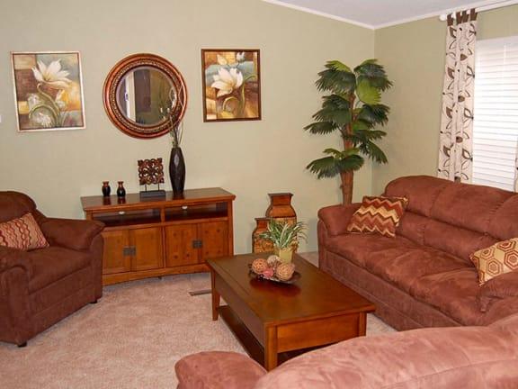 Contemporary Living Room at Valley Ridge Rental Homes in San Antonio