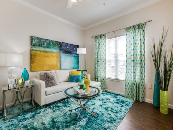 Sophisticated living room at CLEAR Property Management , The Lookout at Comanche Hill, San Antonio, 78247