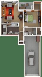 Floor Plan Aspen with Garage