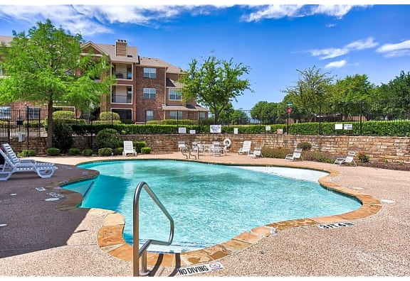 Swimming Pool side at The Life at Westland Estates, Fort Worth, TX, 76108
